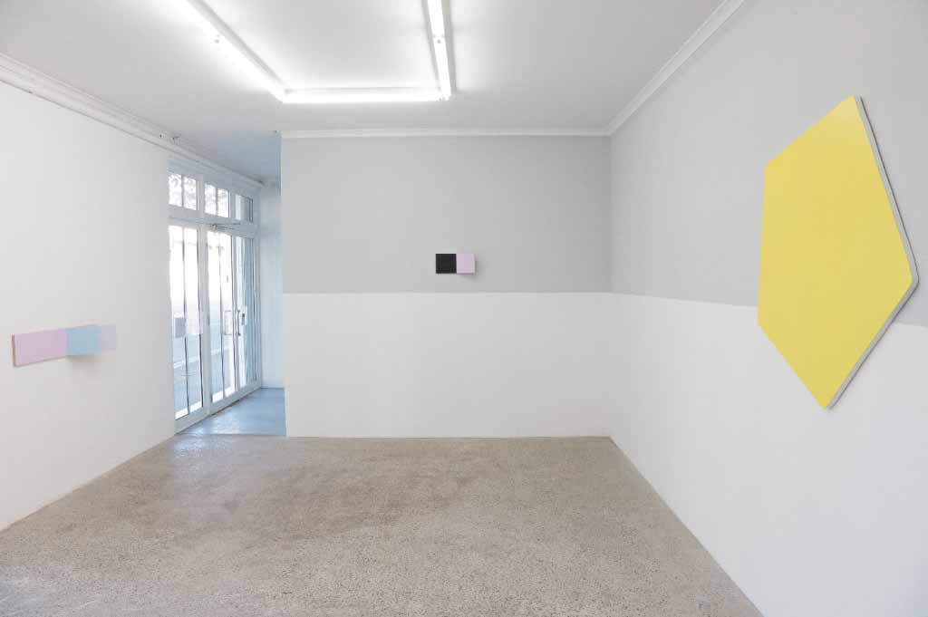 Paintingontopofitself, MOP, Sydney,curated By Tarn McLean, Wallpainting Olivier Mosset, Yellow Monochrome Kyle Jenkins, Peter Holm