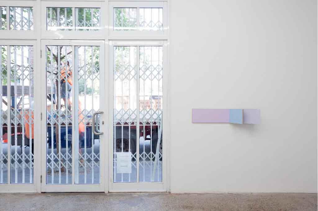Paintingontopofitself,Peter Holm 2015, Unfolded Painting, Kyle Jenkins, Oloivier Mosset, Tarn McLean, Sydney