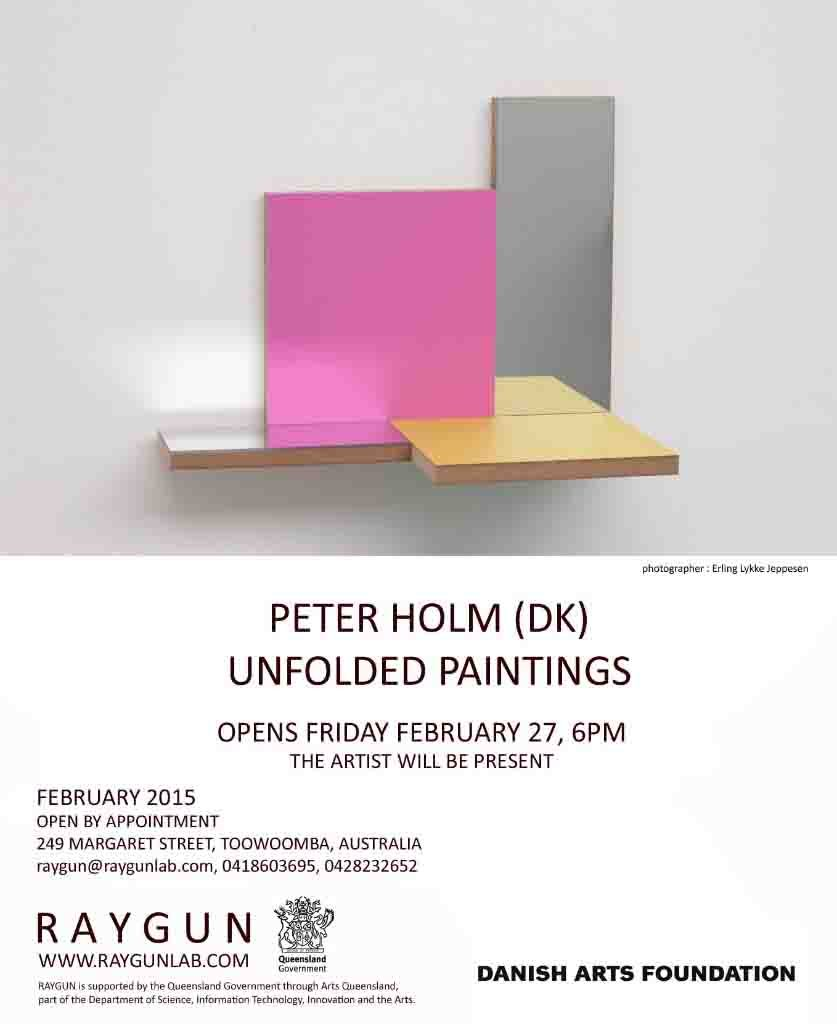 Unfolded Painting,Peter Holm,2015, Soloshow, Raygun,
