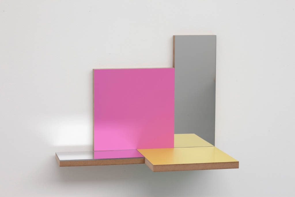 Unfolded Painting 1. MYP Mirror Yellow Pink,Peter Holm, 2015, Soloshow, Raygun, Object,painting