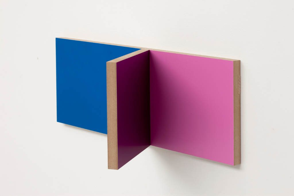 Unfolded Painting #3 A BPFU.BluePurpleFoldOut,Peter Holm, 2015, Soloshow, Raygun, Object,painting