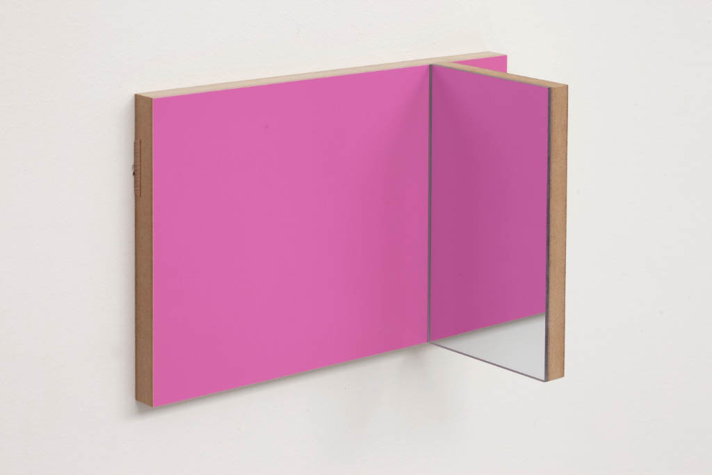 Unfolded Painting # 8 PYM Pink Yellow Mirror , Peter Holm, 2015, Soloshow, Raygun, Object,painting