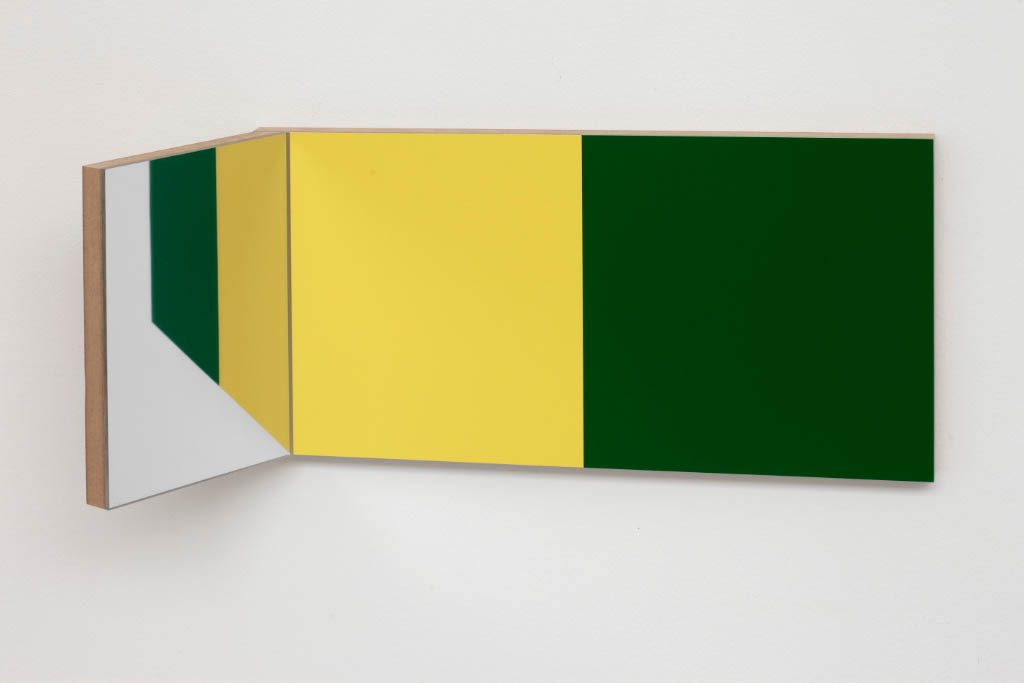 Unfolded Painting 9.MYG MirrorYellowGreen,Peter Holm, 2015, Soloshow, Raygun, Object,painting