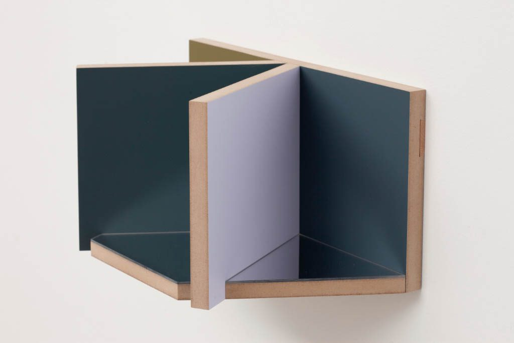 Unfolded Painting No. 5 .6 Colour 3 Mirror Camouflagepiece,Peter Holm, 2015, Soloshow, Raygun, Object,painting